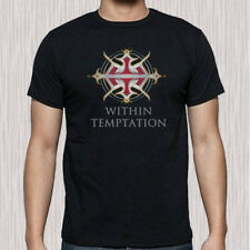 New Within Temptation Logo Men's Black T-Shirt Size S to 3XL