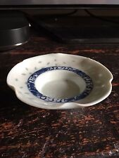antique chinese small blue and white pin dish/bowl?