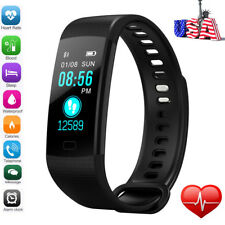 Sports Blood Pressure Oxygen Heart Rate Fitness Tracker Smart Watch Bracelet Y@5