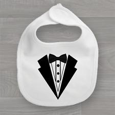Tuxedo Suit & Bow Tie Baby Bib ❤ Funny Feeding Dribble Bandana Muslin ❤