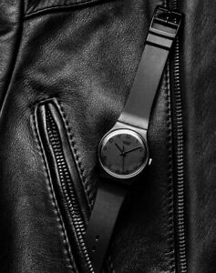 "Vintage Swatch Watch ""Blackout"" GB105 1985  Original Strap, Final Reduction"