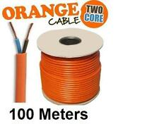100 x 2 core Orange Flexible Câble secteur .75 mm Flex rotofil Tondeuse Speaker