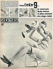 PUBLICITE  1966   BABY RELAX  BABY 9 équipement bébé