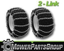 A289 Snow/Mud Tire Chains 22x10x12 2-Link Blower Thrower Pair