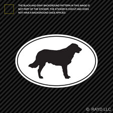 Flat Coated Retriever Euro Oval Sticker Die Cut Decal Vinyl dog canine pet