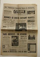 Journal l'Equipe n°6242 - 1966 - Rennes / Nantes - Gimondi - Robert Buchet F3