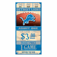 Detroit Lions Old Game Ticket Holzschild 30 cm NFL Football Wood Sign