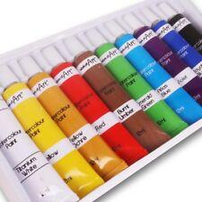 10Pc Premium Quality WATERCOLOUR PAINT SET 12ml Tubes Art/Craft Washable Colour