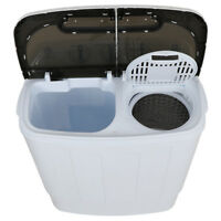 Washer & Dryer with Mini Washing Machine Compact Portable and Spin Dryer, White