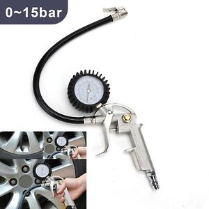 15bar Reifendruckmessgerät geeicht Luftdruckprüfer Reifenfüller Manometer Auto