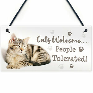 Cat Signs For Home Funny Hanging Cat House Sign Animal Cat Lover Gifts