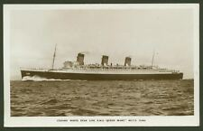 "Cunard White Star Line - R.M.S. ""Queen Mary"" - 80773 Tons - Vintage Postcard"