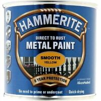 HAMMERITE DIRECT TO RUST METAL PAINT SMOOTH YELLOW 250ML 5084874