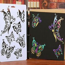 DIY Cute Butterfly Stencil Template Painting Scrapbooking Stamps Album Crafts F