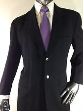 Vtg Auth Black Label Donna Karan Black 4 Button Suit sz 41 Short Made in Italy