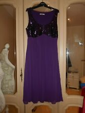 BHS SC beautiful plum sequinned dress size 16 lined