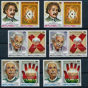 [P15611] Aitutaki 1980 : Einstein - 2x Good Set Very Fine MNH Stamps Se Tenant