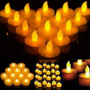 1-72pcs Battery Tea Light Candle FLAMELESS Wedding Party LED Electric Tealights