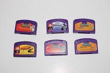 Job lot of 6 Leap Frog Leap pad Carts Only Batman Nemo Spiderman Princes Maths