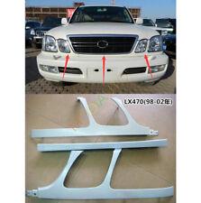 For Lexus LX470 1998-2002 Front Bumper Headlight Trim Under Mesh Primer 3PCS