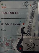 ROCK AND ROLL PARTY INVITES BLUE GUITAR 8CT INVITATIONS
