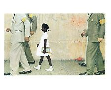 "Norman Rockwell Racism print THE PROBLEM WE ALL LIVE WITH Ruby Bridges 11"" x 15"""