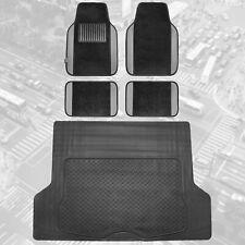 Gray Black Carpet Floor Mats Trunk Cargo Liner Set Heavy Duty All Weather