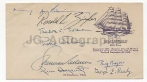 Presidential Cabinet Members Cover Signed by 8 including Henry Kissinger