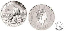 Australien 1 Dollar  Australischer EMU 2021 1 oz 9999 Silber  Anlage  Invest