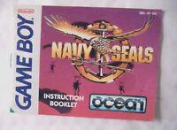 58666 Instruction Booklet - Navy Seals - Nintendo Game Boy () DMG-NV-UKV