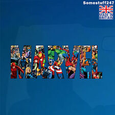 Los Vengadores, personajes de súper héroes, logotipo de Marvel-Color Coche Decal/Sticker - 705AV