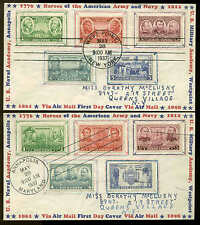 785-794 COMPLETE SET ON 2 MATCHED FDC PLANTY #P3A IOOR CACHETS