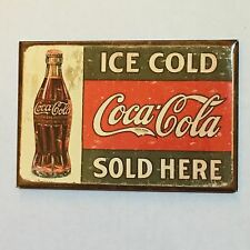 Fridge / Tool Box Retro Ice Cold Coca Cola Sold Here