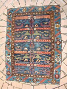 Antique Persian Kurdish Rug rare colorful pattern