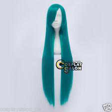 Anime VOCALOID MIKU Cosplay Wig 100cm Türkis Blau Perücke Gelatt Beauty Mädchen
