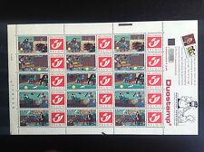 Planche de Timbres émise en 2001 Tintin Tim Kuifje