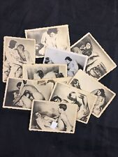 Lot X10 Vtg Original 1940's Snapshot WW2 Era Risque Nude Girl Amateur Photo