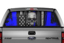 Ford F150 F 150 Window Vision Graphics Vinyl Sticker Decal 2009-2014 SKULL BLUE