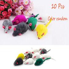 10pcs/set Rabbit Fur False Mouse Pet Cat Toy Mini Funny Playing Toys for Kitten