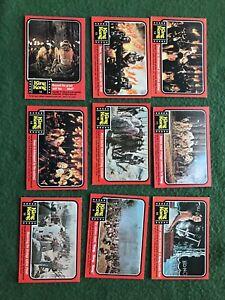 Lot of 9 King Kong 1976 Topps Trading Cards Ape Jessica Lange monster lot #5