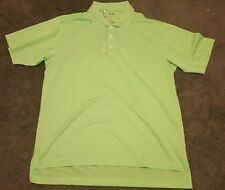 NWT Men's Adidas Climalite Tech Solid Relaxed Fit Golf Polo Shirt Green Medium