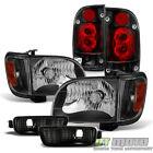 For 2001-2004 Toyota Tacoma Blk Headlightstail Lightscornersignal Bumper Lamp