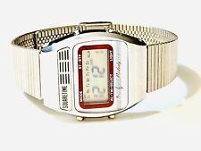 Vintage  Square Time Melody Lcd Alarm Chronograph  Digital Wrist Watch (20337M)