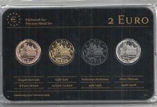 Deutschland 2 Euro Prestige Metal Coinset Bremen, Gold,Platin,Ruthenium,Neu,OVP