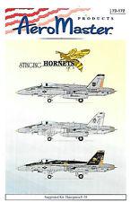 AeroMaster 1/72 Stinging Hornets Part 2 Decals Jet Aircraft AN72172