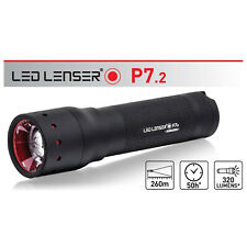 LED LENSER P7.2 Torch Flashlight 320 Lumens Retail Black Gift Box