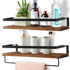 Rustic Floating Shelf Storage Wall Shelf for Kitchen Bathroom Towel Frame Decor