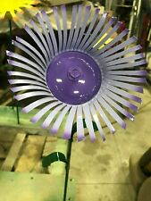 """All recycled metal flower home garden stake yard art lawn ornament 18"""" tall"""