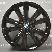 "GENUINE BMW X5/X6 F15/F16 20"" INCH 491M GLOSS BLACK ALLOY WHEELS X4"