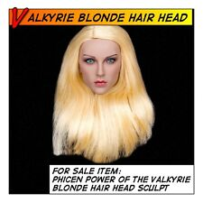 Phicen Power of the Valkyrie Blonde Hair Head Sculpt for 1/6 12 in scale Female